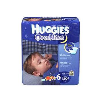 Huggies overnite diapers, step 6, jumbo pack part no. 40685 (72/case)