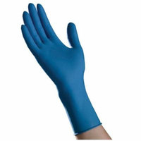 Ambitex small high risk powder-free latex exam gloves, blue part no. lsm620 (500/case)