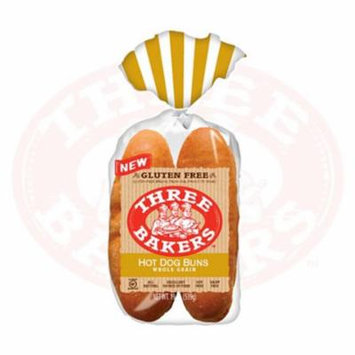 Three Bakers Whole Grain Hot Dog Buns, 19 Oz [6 Pack]