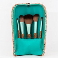 Danielle Creations 6-Piece Cork Brush Set, Seafoam Green
