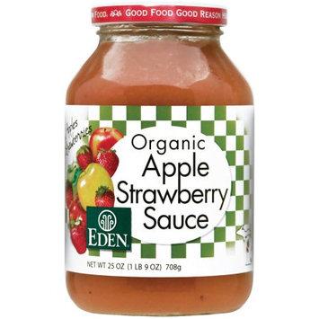 Eden Organic Apple Strawberry Sauce, 25 oz, (Pack of 3)