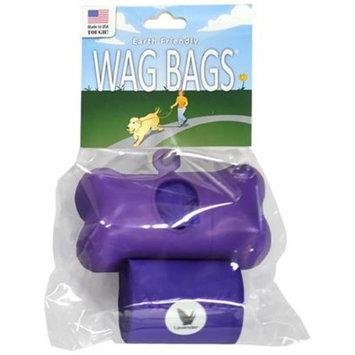 Wag Bags Dispenser Bone [Options : BLUE (30 Bags)]