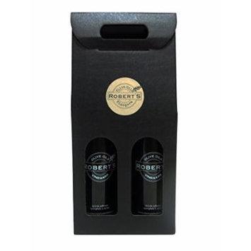 Robert's Extra Virgin Infused Olive Oil - 2 (750ml) bottle gift pack - Garlic and Lemon