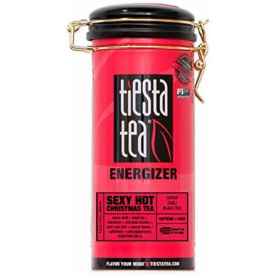 Cocoa Chili Black Tea , Sexy Hot Christmas Tea by Tiesta Tea , High Caffeine , Loose Leaf Black Tea Energizer Blend , Non-GMO , 4.5 Ounce Tin