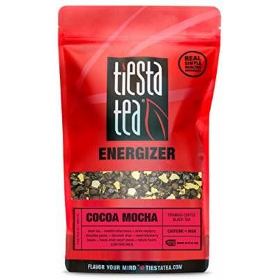 Tiramisu Coffee Black Tea , Cocoa Mocha by Tiesta Tea , High Caffeine , Loose Leaf Black Tea Energizer Blend , 1 Lb Bulk Bag