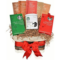 Starbucks Christmas Hot Cocoa Variety Gift Basket - 6 Popular Holiday Flavors including Peppermint, Marshmallow, Double Chocolate, Salted Caramel, Vanilla Brulée and Cinnamon Dolce