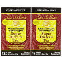 Laci Le Beau Maximum Strength Super Dieter's Tea Cinnamon Spice -- 12 Tea Bags by Laci LeBeau