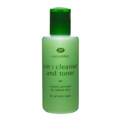 Boots Cucumber 2in1 Cleanser and Toner Vitamin Enriched for Radiant Skin For All Skin Types 150 ml.
