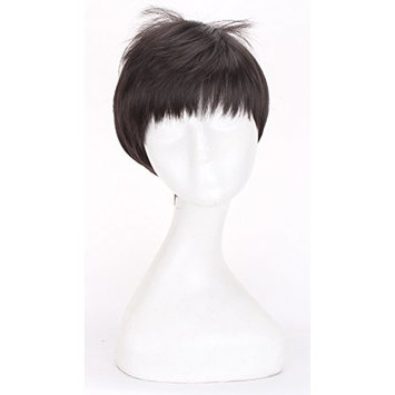Simpleyourstyle Anime Cosplay Wigs White Red Black Brown Short Heat Resistant Synthetic Full Wigs for Men 30cm 11.8inch 150g
