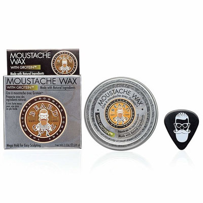 Best Moustache Wax Made With Butters, Vitamins & Extracts - Smells Great - Firm Hold for Long Lasting Styling - Promotes Thicker, Fuller Moustache - Citrus Scent /1.7 oz. Beard Care by Beard Guyz