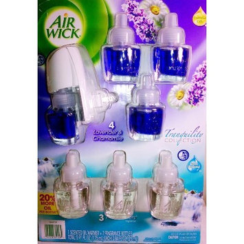 Air Wick Scented Oil Warmer and 7 Refills Tranquility Collection 20% more scentedoil