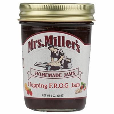 Mrs. Miller's Hopping F.R.O.G. Jam: Fig, Raspberry, Orange, Ginger, Jalapeno 9 oz. (3 Jars)