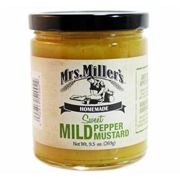 Mrs. Millers Sweet Mild Pepper Mustard 9.5 Oz. (3 Jars)
