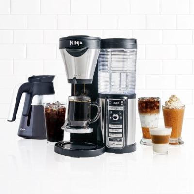 Ninja Coffee Bar with Glass Carafe and Auto-iQ One Touch Intelligence with Paper Filter Kit - CF080 (Certified Refurbished)