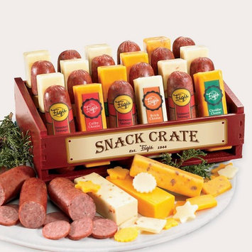 Snack Crate of Cheese & Sausage [Cheddar,Colby,Summer]