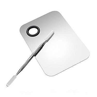Gospire Stainless Steel Professional Cosmetic Mixing Makeup Palette Spatula Makeup Artist Tool for Mix Foundation Shades