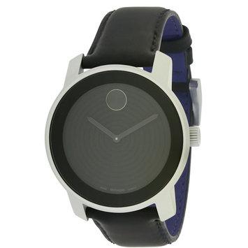Movado Bold Aluminum Leather Unisex Watch 3600072