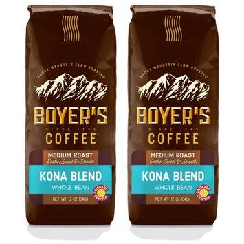 Luna Gourmet Coffee & Tea Co, Llc Kona Blend, Whole Bean Coffee, Medium Roast, 2-Pack (1.5lb)