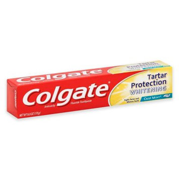 Colgate Tartar Protection Whitening Fluoride Toothpaste, Crisp Mint, 6.4 Oz (Pack of 4)