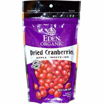 Eden Foods, Organic Dried Cranberries, 4 oz (pack of 6)
