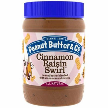 Peanut Butter & Co., Cinnamon Raisin Swirl, Peanut Butter Blended with Cinnamon and Raisins, 16 oz (pack of 1)