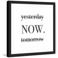 Marmont Hill Inc Marmont Hill - 'Now' by Diana Alcala Framed Painting Print