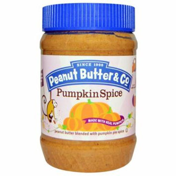 Peanut Butter & Co., Pumpkin Spice, Peanut Butter Blended with Pumpkin Pie Spice, 16 oz (pack of 1)