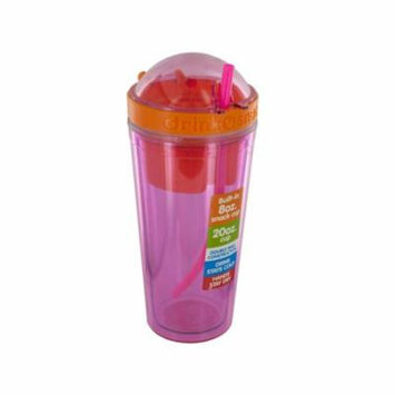 Bulk buys double wall rumbler w/ straw & snack cup- bpa free