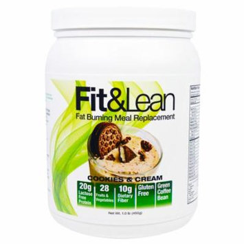 Maximum Human Performance, LLC, Fit & Lean, Fat Burning Meal Replacement, Cookies & Cream, 1.0 lb (pack of 3)