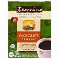 Teeccino, Chicory Herbal Tea, Dark Roast, Caffeine Free, Chocolate, 10 Tee-Bags, 2.12 oz (pack of 6)