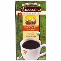 Teeccino, Herbal Coffee, Dark Roast, Organic Chocolate, Caffeine Free, 25 Tee-Bags, 5.3 oz (pack of 2)