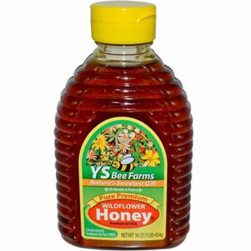 Y.S. Eco Bee Farms, Pure Premium Wildflower Honey, 16 oz (pack of 4)