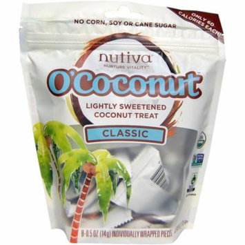 Nutiva, O'Coconut, Classic, 8 Individually Wrapped Pieces, 0.5 oz (14 g) Each(pack of 12)