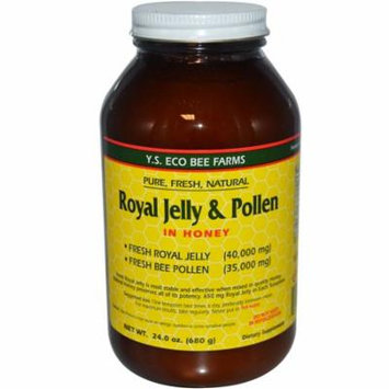 Y.S. Eco Bee Farms, Royal Jelly & Pollen, in Honey, 24 oz(pack of 4)