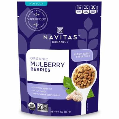 Navitas Organics, Organic, Mulberry Berries, 8 oz (pack of 2)