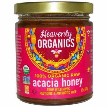 Heavenly Organics, 100% Organic Raw, Acacia Honey, 12 oz (pack of 6)