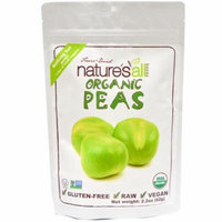 Natierra Nature's All , Foods, Freeze-Dried Organic Peas, 2.2 oz (pack of 3)