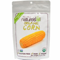 Natierra Nature's All , Foods, Freeze-Dried Organic Corn, 2.3 oz (pack of 6)
