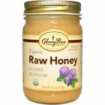 GloryBee, Organic Raw Honey, Clover Blossom, 18 oz (pack of 1)