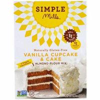 Simple Mills, Naturally Gluten-Free, Almond Flour Mix, Vanilla Cupcake & Cake , 11.5 oz (pack of 12)
