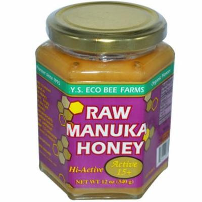 Y.S. Eco Bee Farms, Raw Manuka Honey, Active 15+, 12 oz (pack of 2)