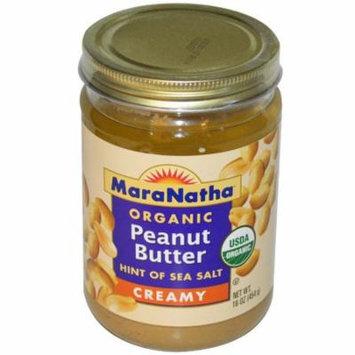 MaraNatha, Organic Peanut Butter, Creamy, 16 oz (pack of 6)