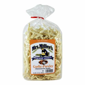 Mrs. Miller's Homemade Garlic Parsley, Tomato Basil & Broccoli Carrot Cholesterol-Free Noodles Variety Pack (1- 14 oz. Bag of Each)