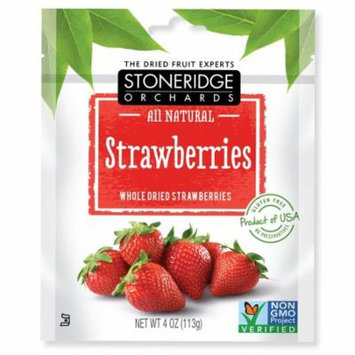 Stoneridge Orchards, Strawberries, Whole Dried Strawberries, 4 oz (pack of 4)