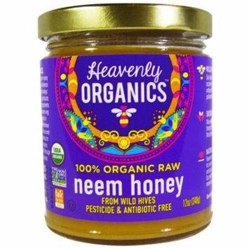 Heavenly Organics, 100% Organic Raw Neem Honey, 12 oz(pack of 6)