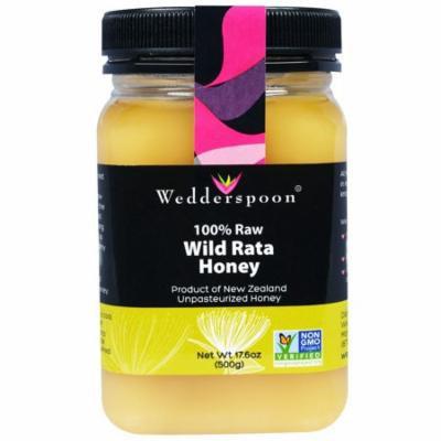 Wedderspoon, 100% Raw, Wild Rata Honey, 17.6 oz (pack of 4)