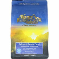 Mt. Whitney Coffee Roasters, Columbia Excelso Decaf, Ground Coffee, 12 oz (pack of 4)
