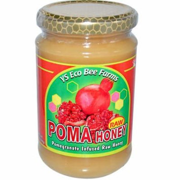 Y.S. Eco Bee Farms, Poma, Raw Honey, 13 oz ((pack of 4)