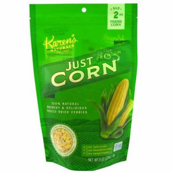 Karen's Naturals, Premium Freeze-Dried Veggies, Just Corn, 8 oz (pack of 2)
