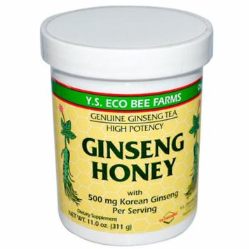 Y.S. Eco Bee Farms, Ginseng Honey, 11.0 oz (pack of 12)